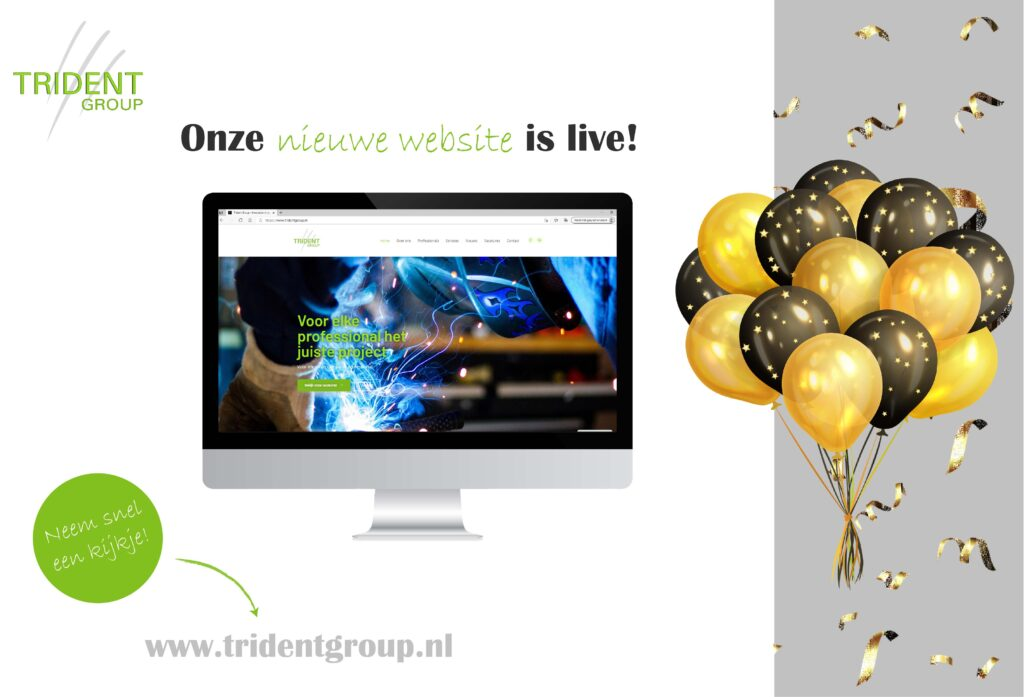 nieuwe website Trident Group